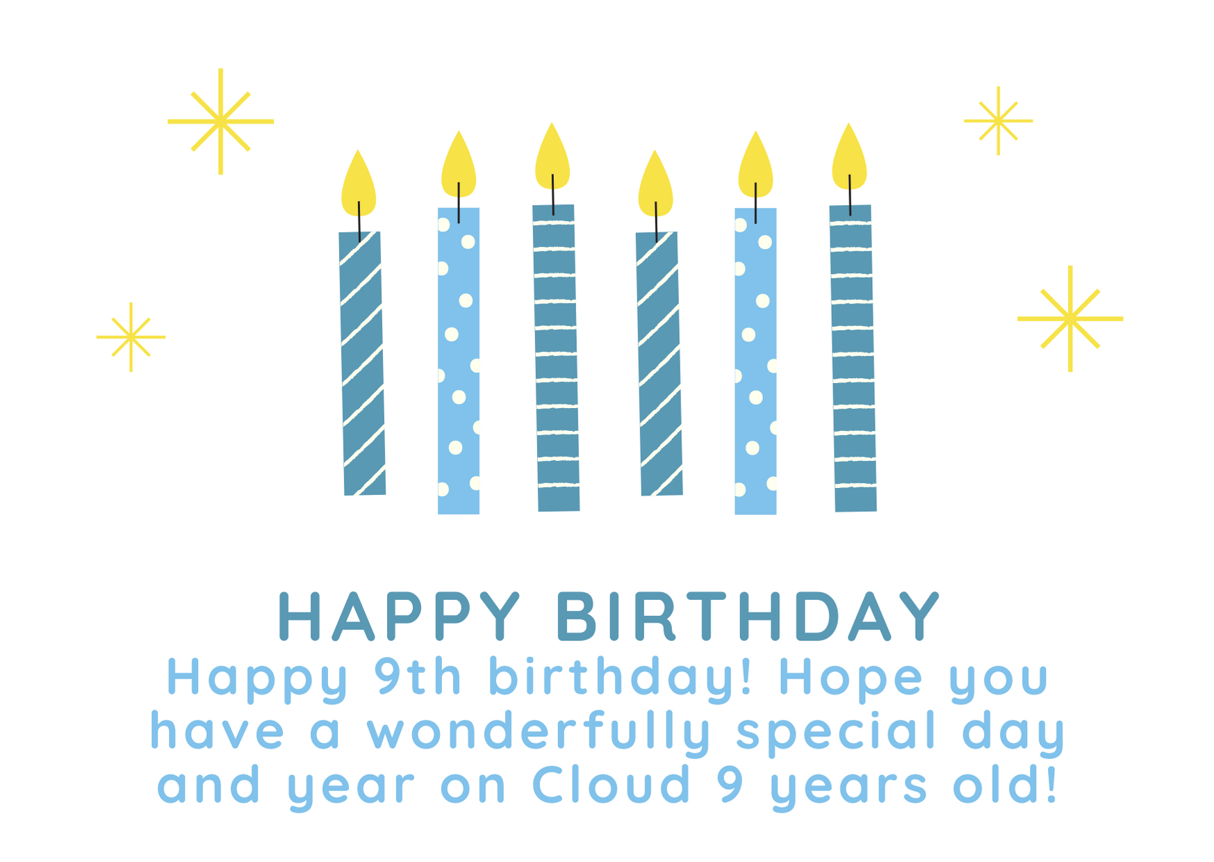 Happy Birthday Wishes For 9 year Boy And Girl