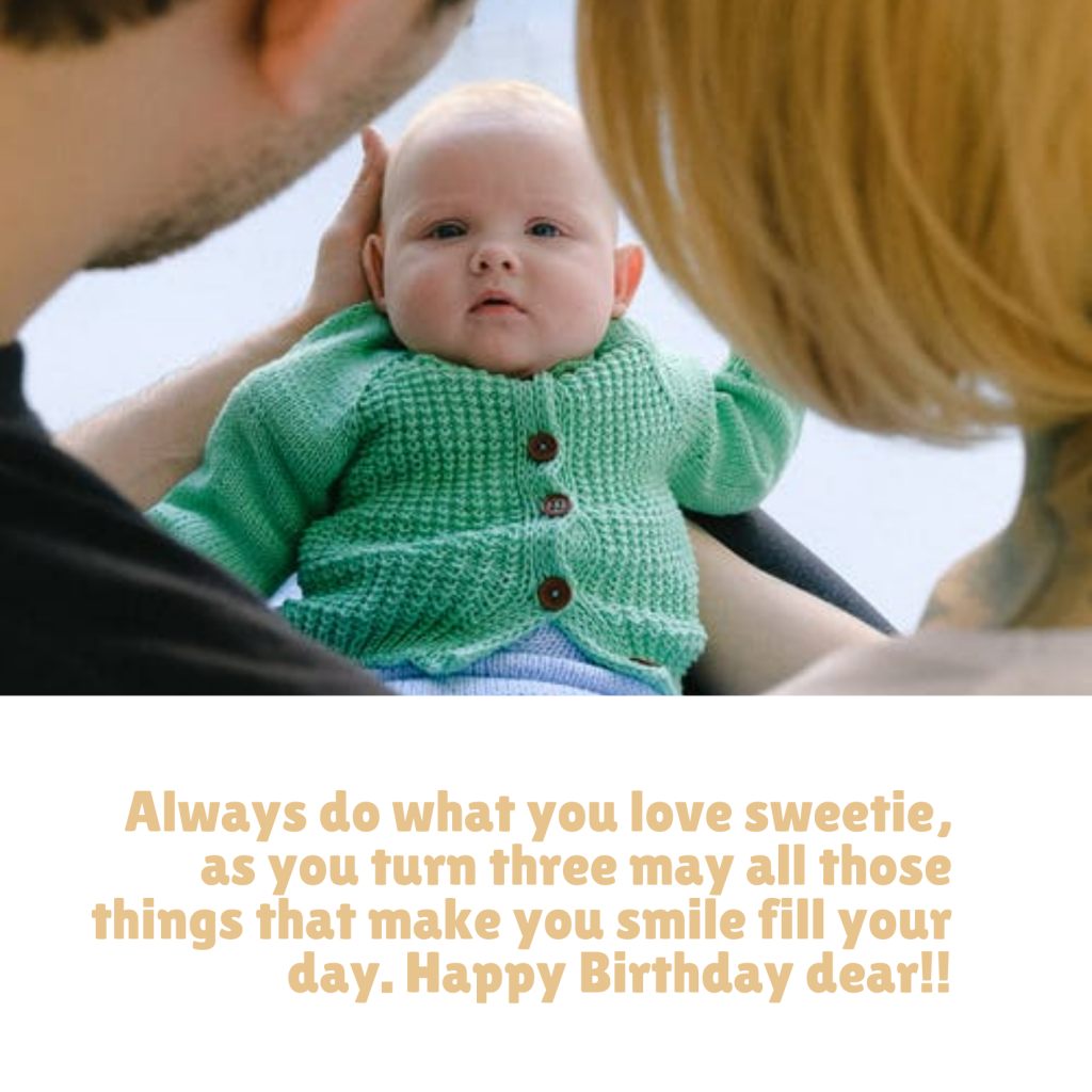 3rd Birthday Wishes for baby boy!