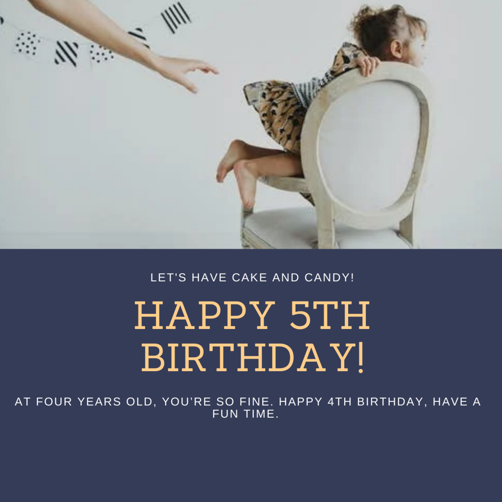 5th Birthday Wishes For baby Girl