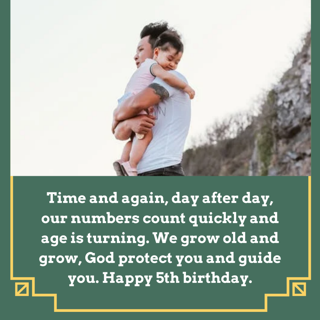5th Birthday Wishes For baby Boy
