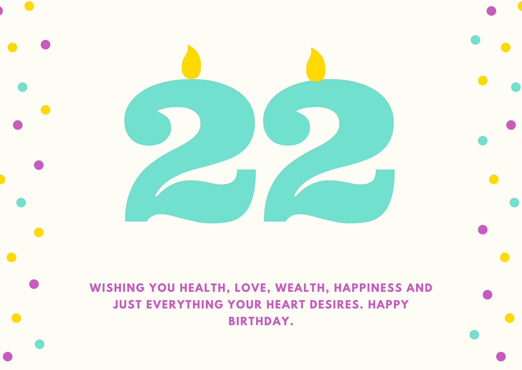 happy 22nd birthday wishes