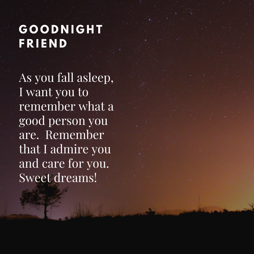 Goodnight messages For Friend