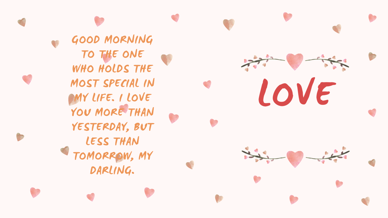 Good Morinng messages for lover