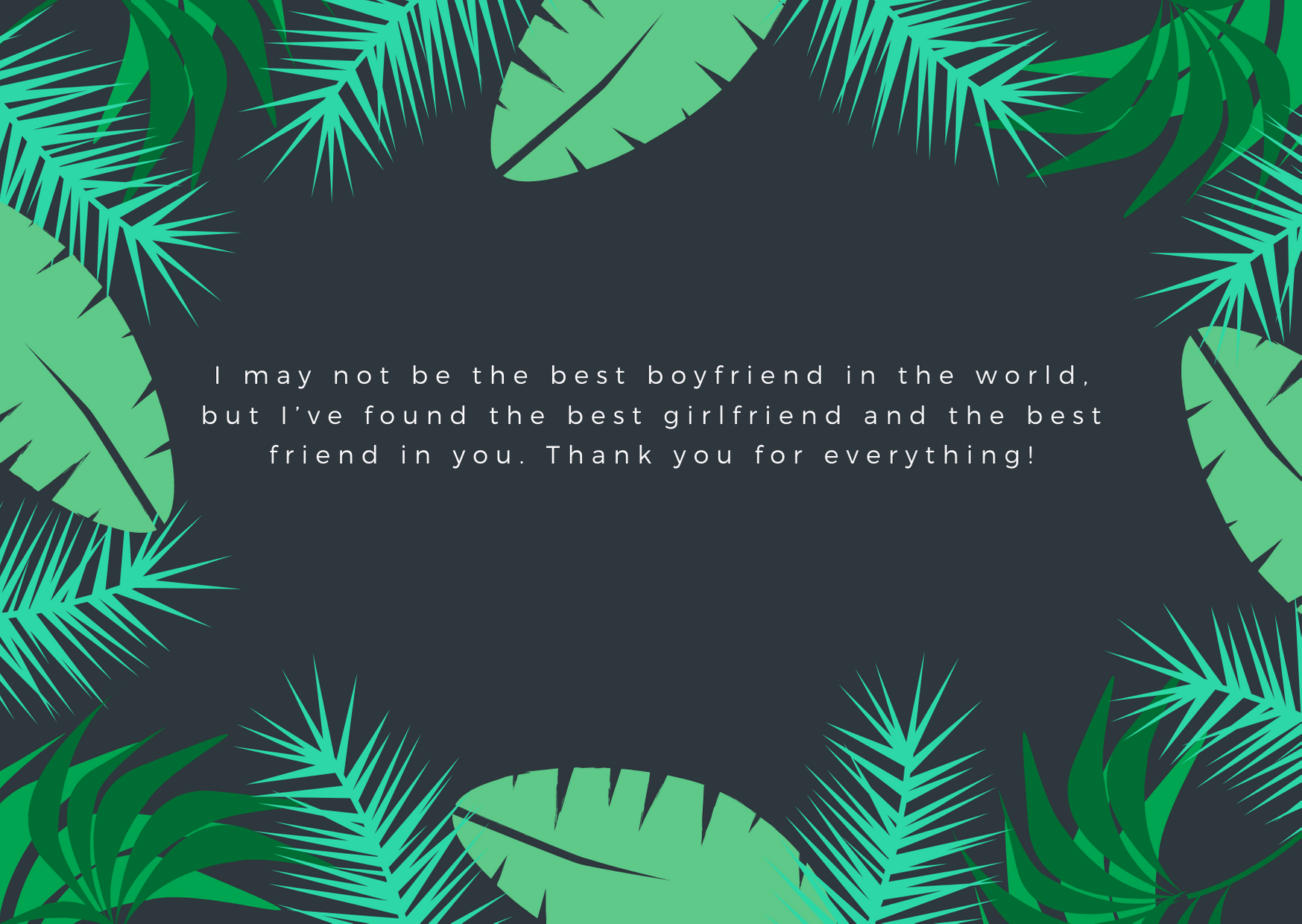 thank you messages for girlfriend